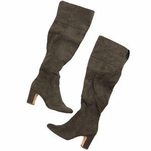 Alfani Prima Harrley Gray Block Heel Boots Size 6M